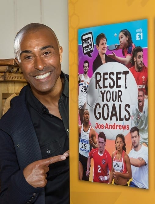 Colin Jackson promoting his 'Reset Your Goals' book with Hayley Long