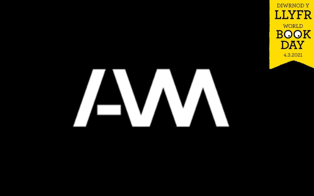 Logo platfform aml-gyfrwng AM a Diwrnod y Llyfr